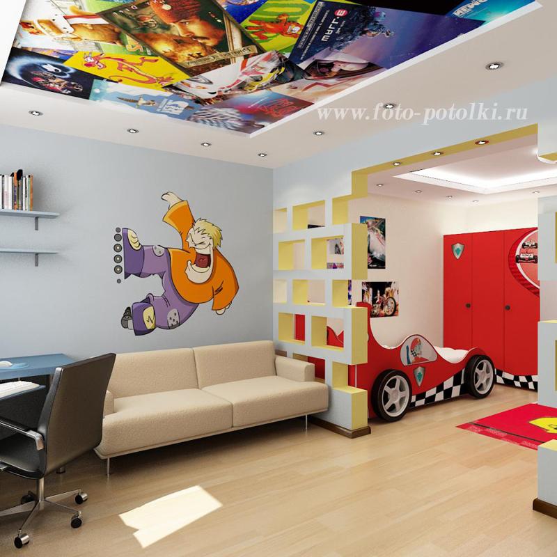 Дизайн потолков в детскую комнату